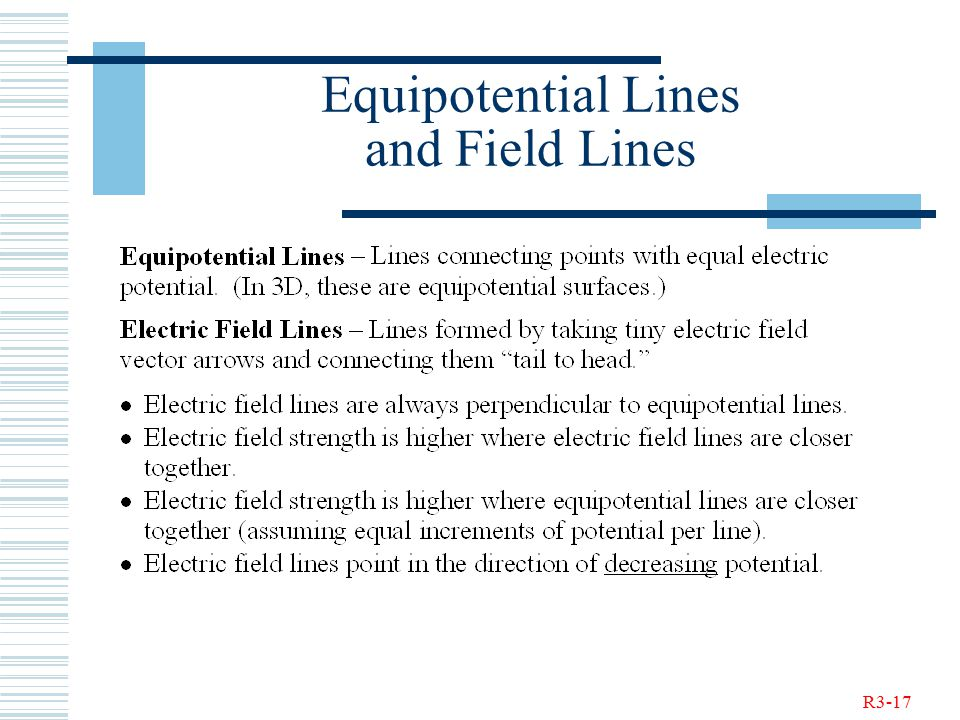 R3-17 Equipotential Lines and Field Lines