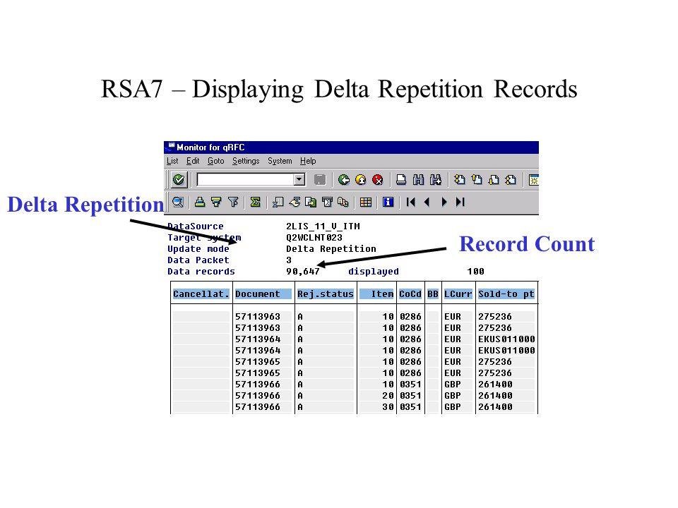 Delta Repetition Record Count
