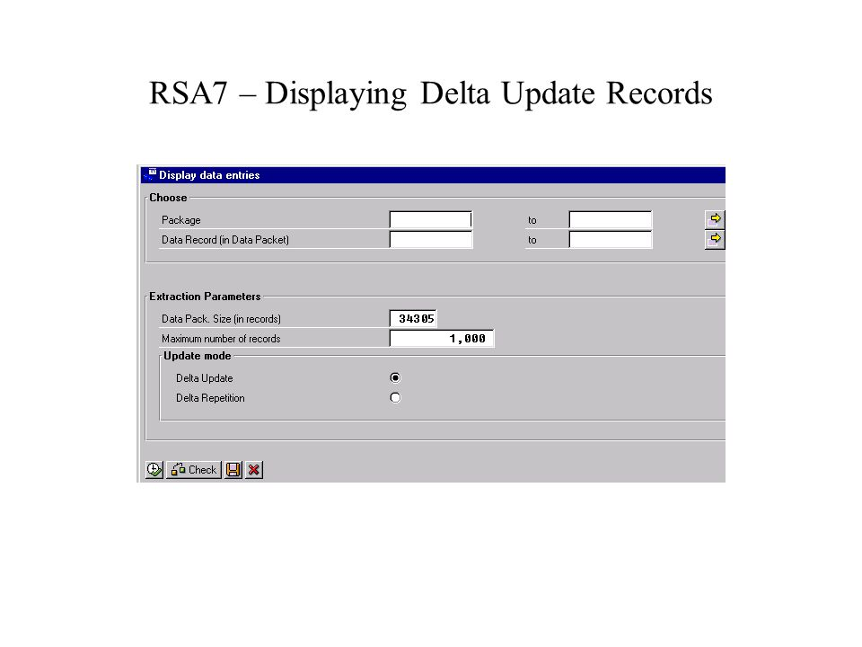 RSA7 – Displaying Delta Update Records