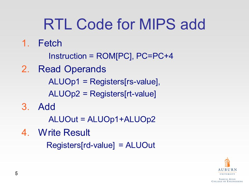 6 Datapath Components for MIPS add add R1, R2, R3 PCPC address Inst.