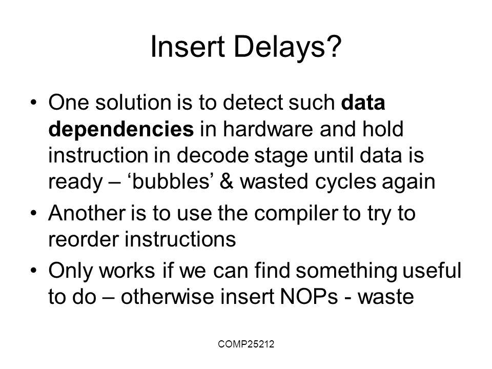 COMP25212 Insert Delays.