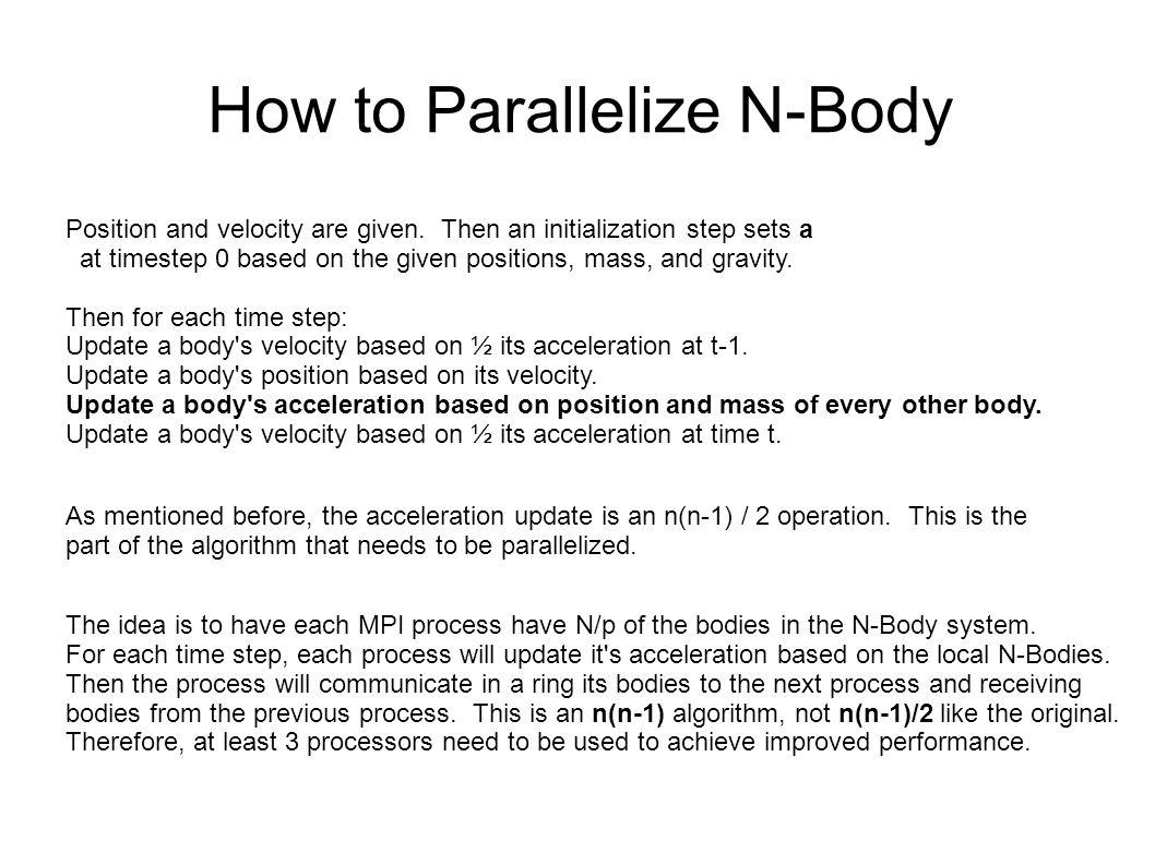 CUDA Parallelization The CUDA parallelization is straight forward.