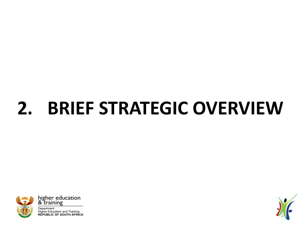 2.BRIEF STRATEGIC OVERVIEW 4