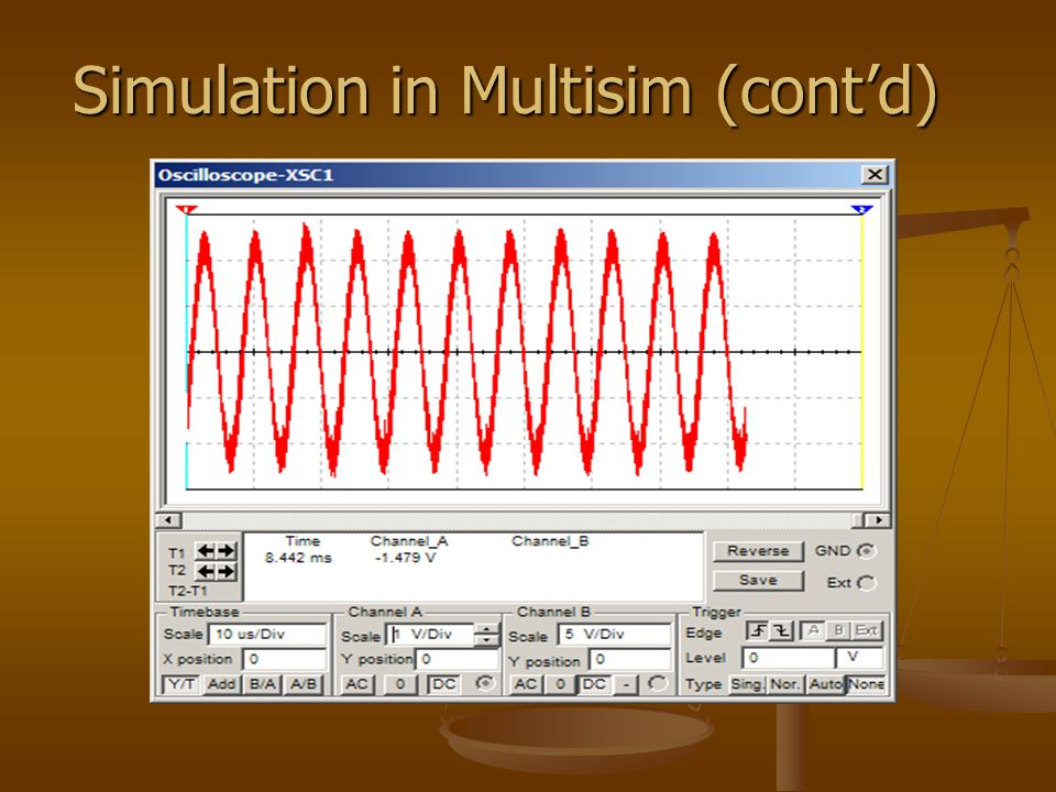 Simulation in Multisim (cont'd)