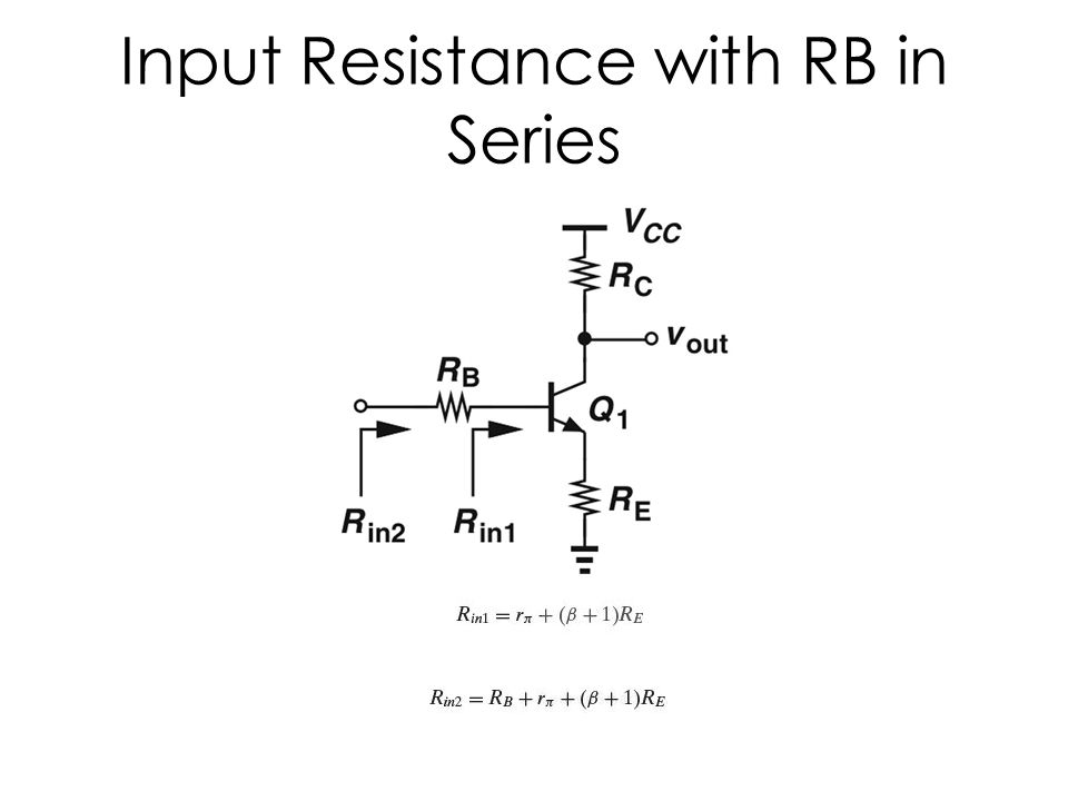 Input Resistance with RB in Series