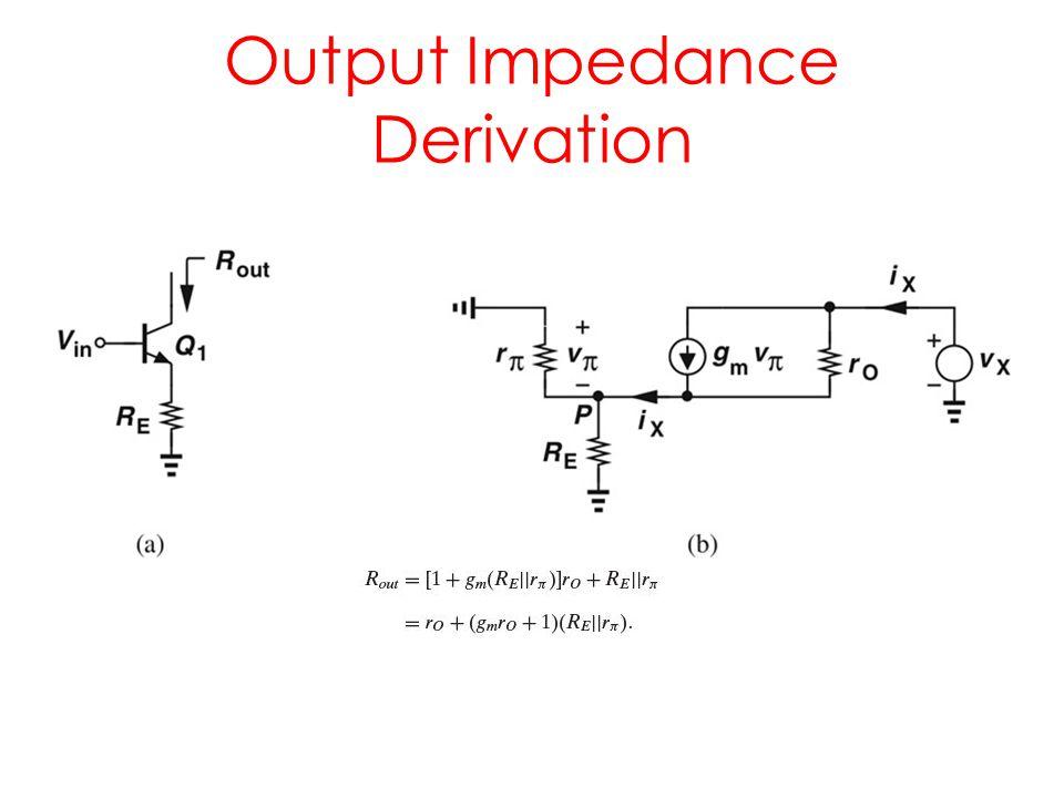 Output Impedance Derivation