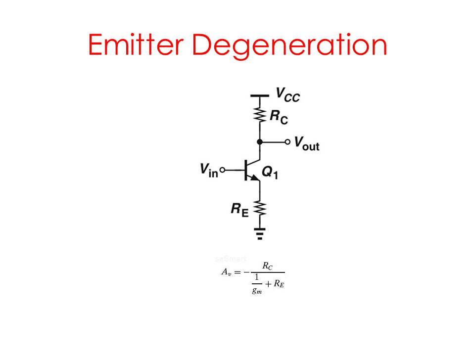 Emitter Degeneration