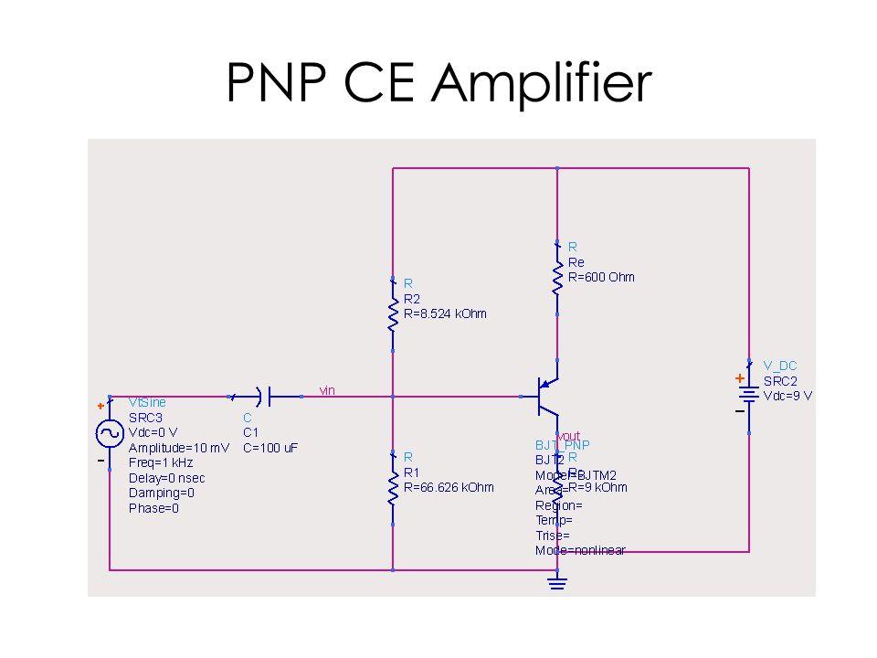 PNP CE Amplifier