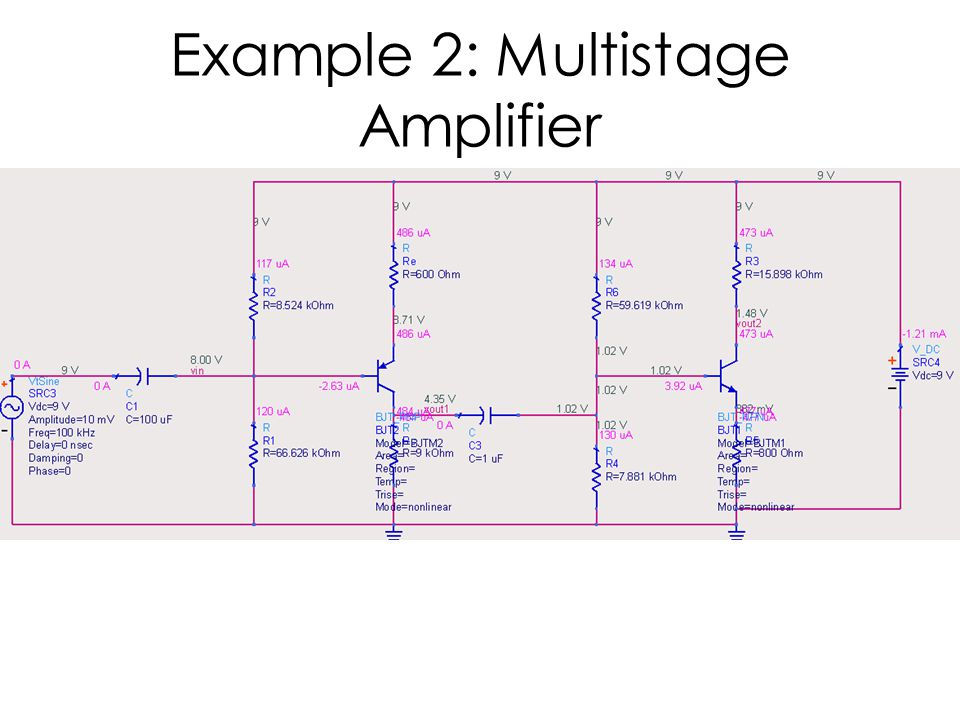 Example 2: Multistage Amplifier