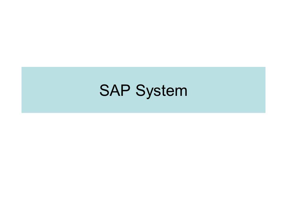 SAP System Architecture Database Server M SAP Application Server(SAP Instance) Oracle Informix DB2 MS SQL Server MAX DB G Dispatcher Queue D D B V S E SAP Buffer (Shared Mem) SAP GUI DIAG Dispatcher Queue ICM Memory Pipe SAP Web AS Java Web Browser HTTP, HTTPS SMTP, SOAP, XML, … Web
