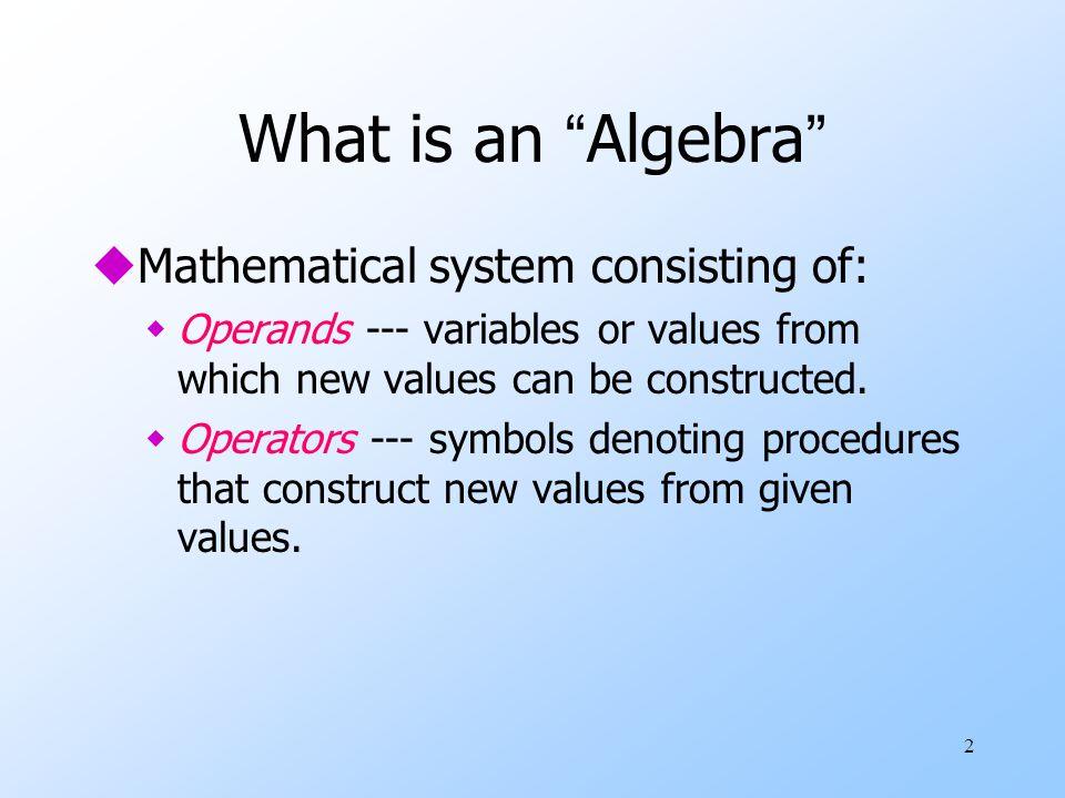 3 What is Relational Algebra.