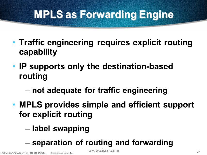 58 MPLS BOOTCAMP ( Mosaddaq Turabi) © 2000, Cisco Systems, Inc.