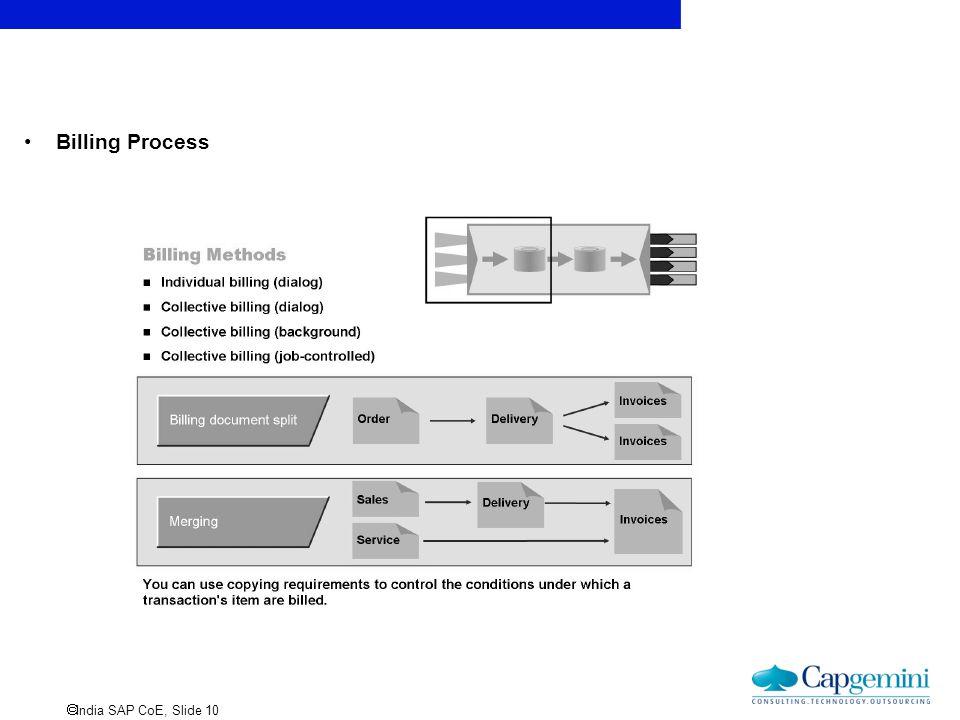  India SAP CoE, Slide 10 Billing Process