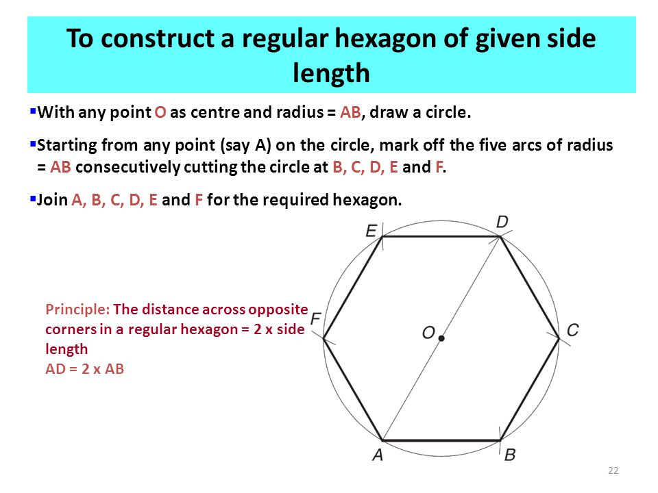  With any point O as centre and radius = AB, draw a circle.