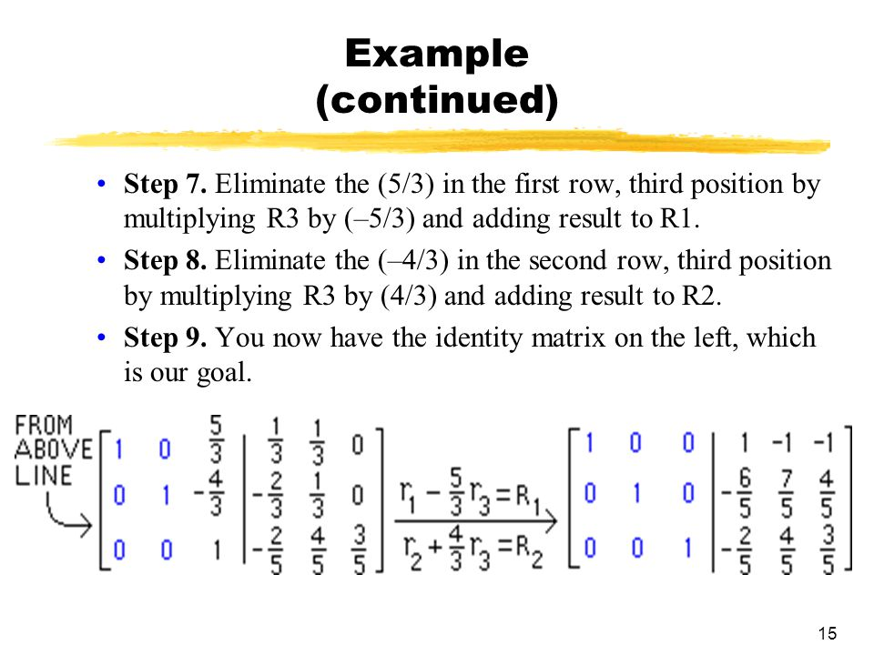 15 Example (continued) Step 7.