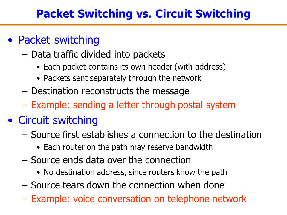 Packet Switching vs.