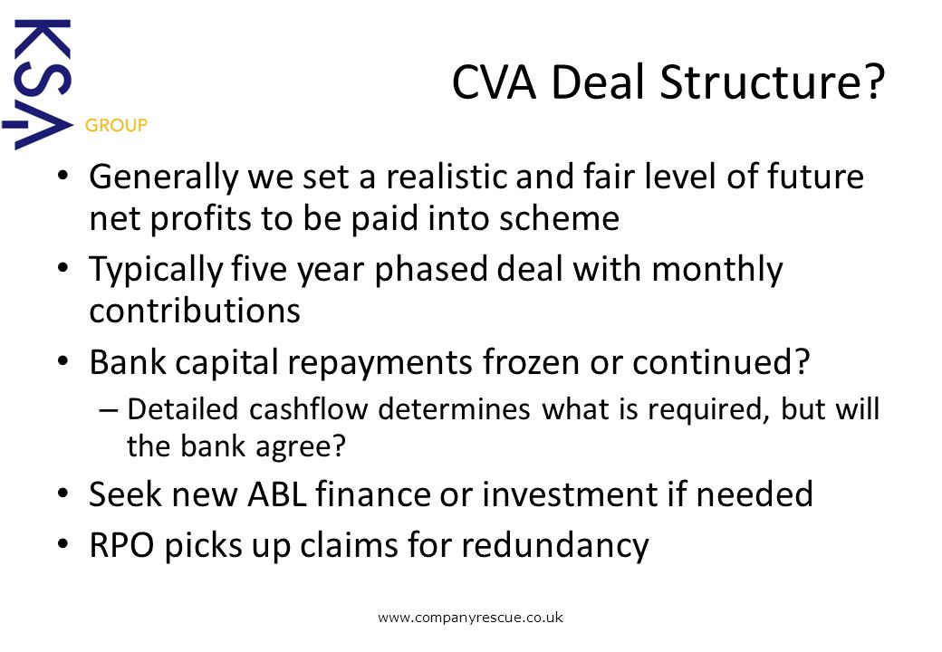A Lifeline for Business CVA Deal Structure.