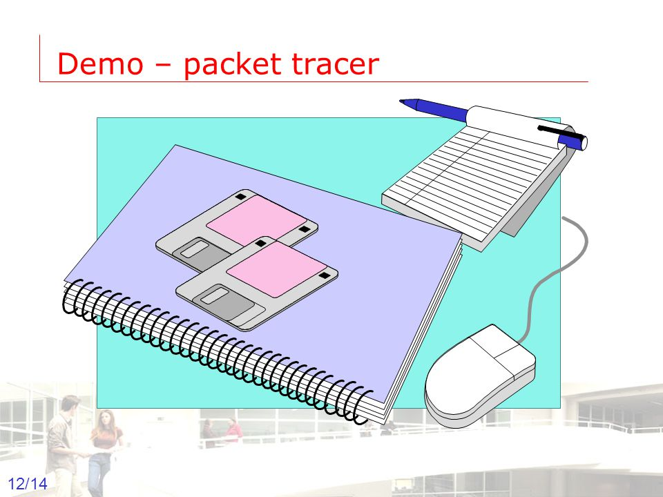 2003-2004 - Information management 12 Groep T Leuven – Information department 12/14 Demo – packet tracer