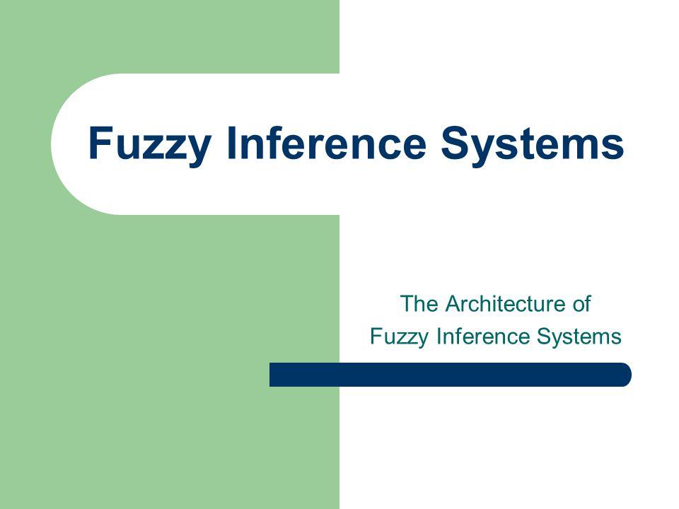 Fuzzy Systems Fuzzy Knowledge base Input Fuzzifier Inference Engine Defuzzifier Output