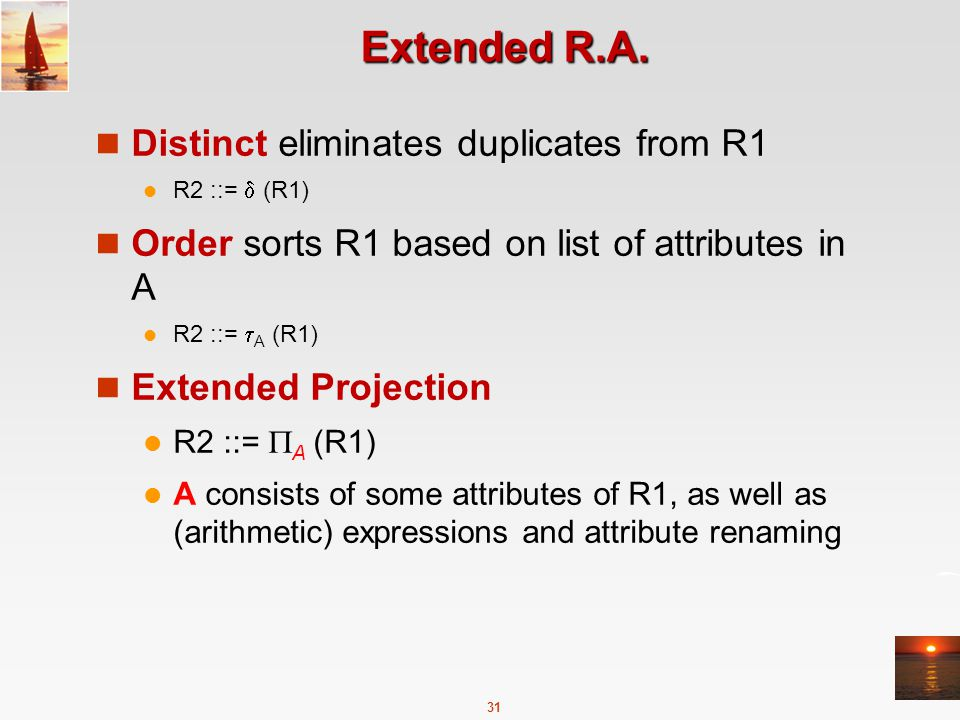 31 Extended R.A.