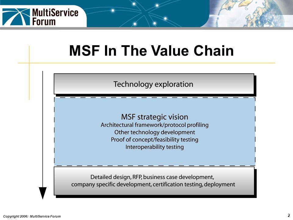 Copyright 2006: MultiService Forum 3 MSF Principal Members - 2006