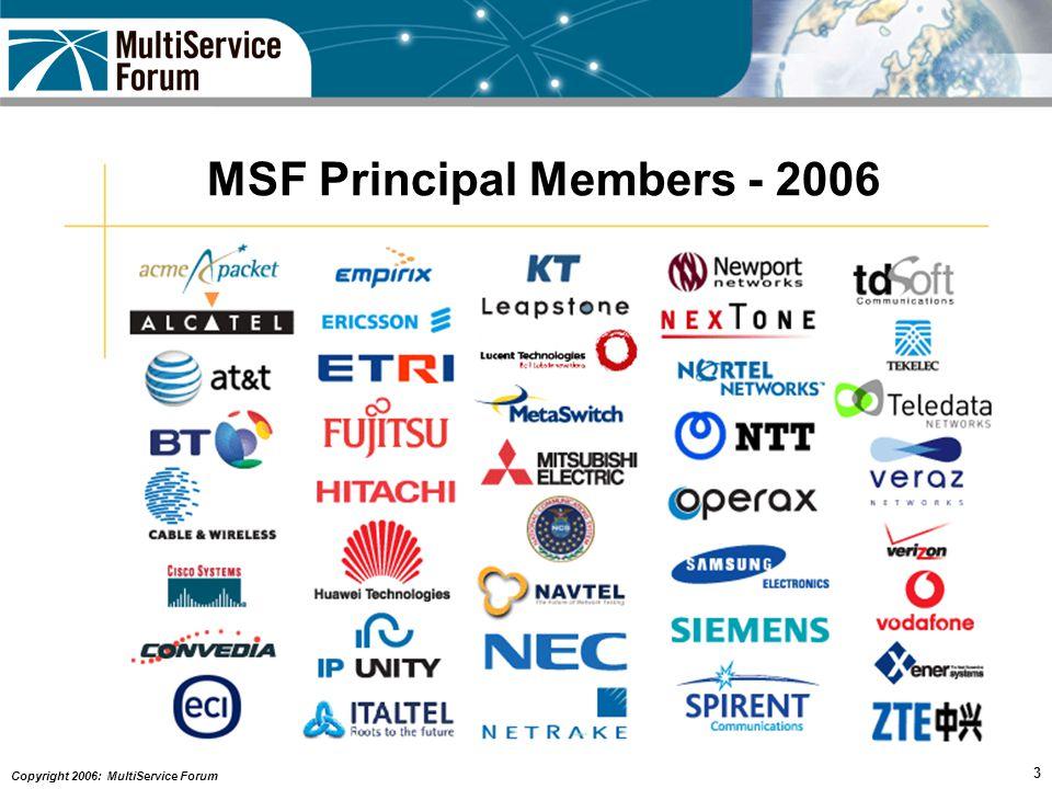 Copyright 2006: MultiService Forum 14 Scenario 3 – IMS Interconnect