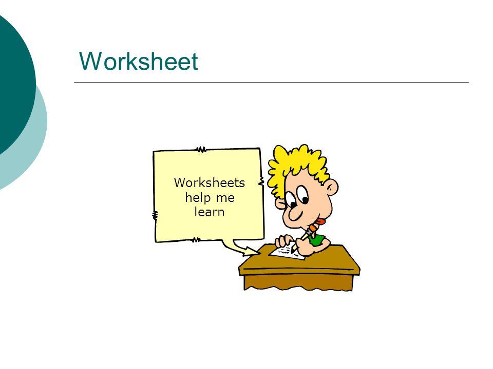 Worksheet Worksheets help me learn