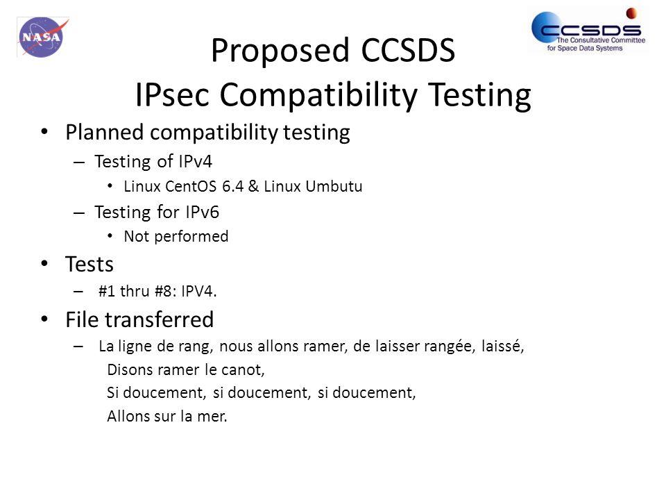 IPV4 IPsec Compatibility Test