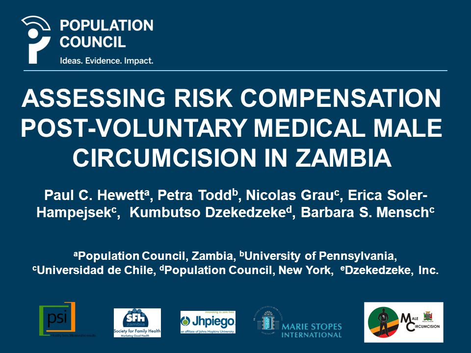 Background Government of the Republic of Zambia has set ambitious targets for scaling up voluntary medical male circumcision (VMMC) services.
