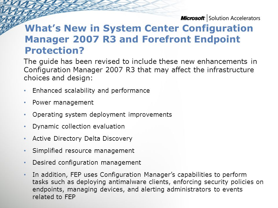 System Center Configuration Manager 2007 R3 and FEP Decision Flow SCMITA