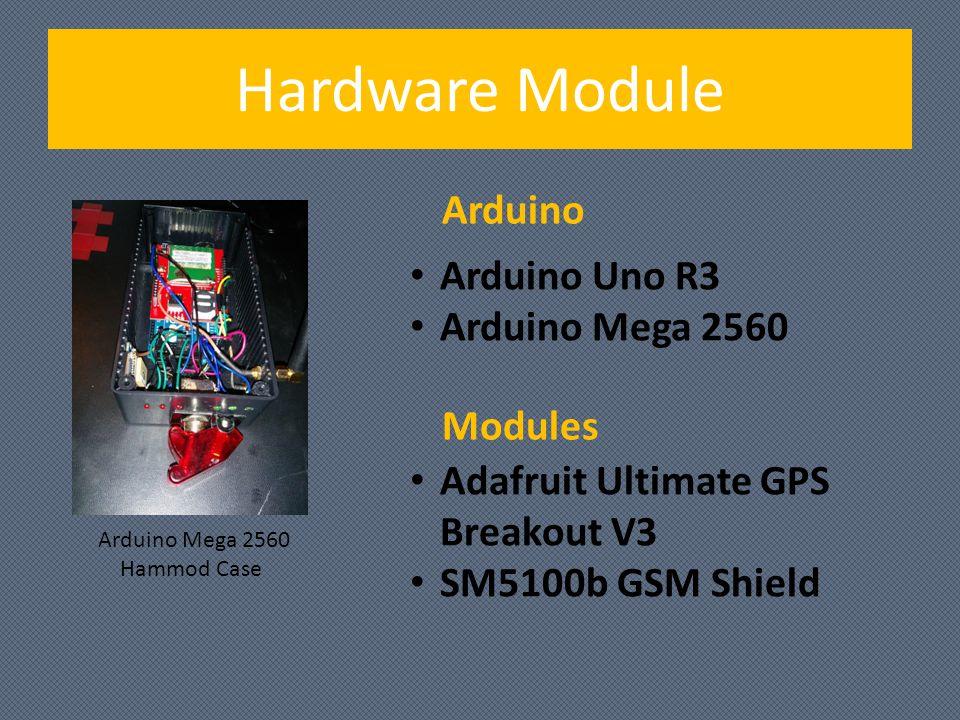 Hardware Module Arduino Arduino Mega 2560 Hammod Case Arduino Uno R3 Arduino Mega 2560 Adafruit Ultimate GPS Breakout V3 SM5100b GSM Shield Modules