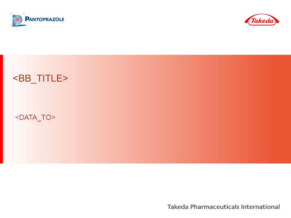 A2B2 Others All remaining A2B2 Pantoprazole Market A2B2 Takeda Market Segment PPI All A2B2 combinations of the following molecules: pantoprazole, esomeprazole, omeprazole, rabeprazole, lansoprazole, dexlansoprazole Pantoprazole Market Definitions