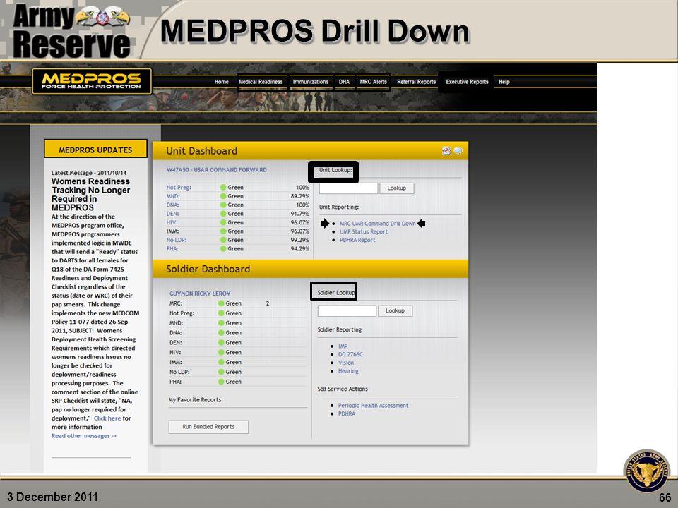 3 December 2011 MEDPROS Drill Down 66