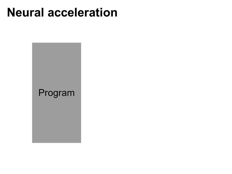 Program Neural acceleration
