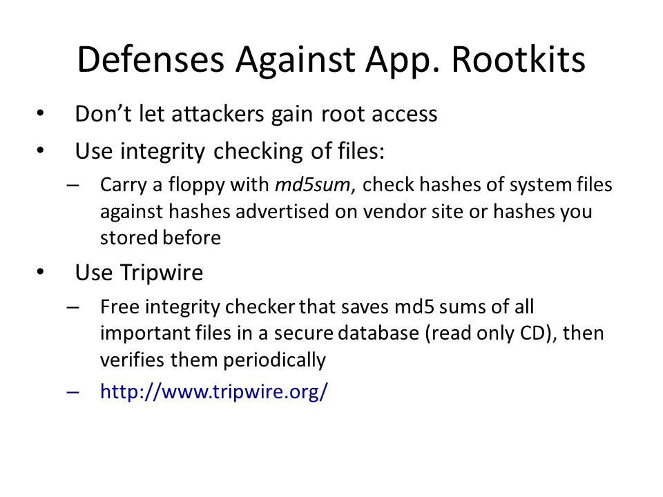 Defenses Against App.