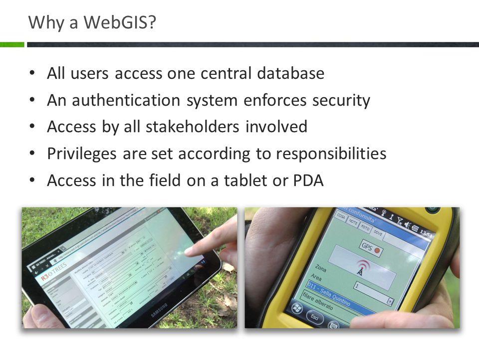 Why a WebGIS.