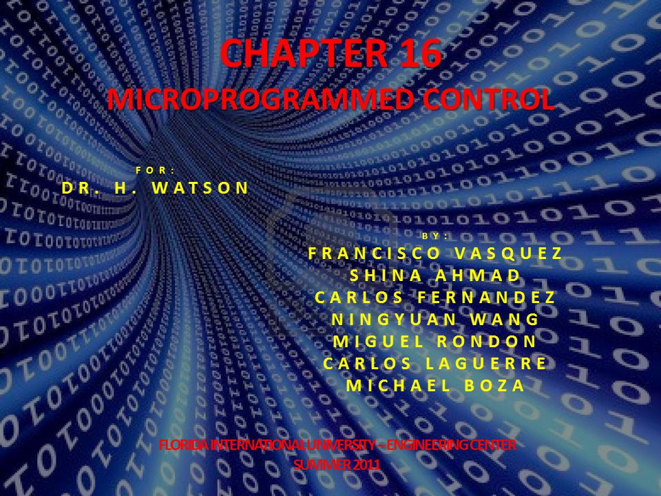 2 Chapter # 16:Microprogrammed Control  Basic Concepts  Microinstructions  Microprogrammed Control Unit  Wilkes Control  Advantages and Disadvantage  Microinstruction Sequencing  Design Considerations  Sequencing Techniques  Address Generation  LSI–11 Microinstruction Sequencing  Microinstruction Execution  A Taxonomy of Microinstructions  Microinstruction Encoding  LSI–11 Microinstruction Execution  IBM 3033 Microinstruction Execution  TI 8800  Microinstruction Format  Microsequencer  Registered ALU Topics: