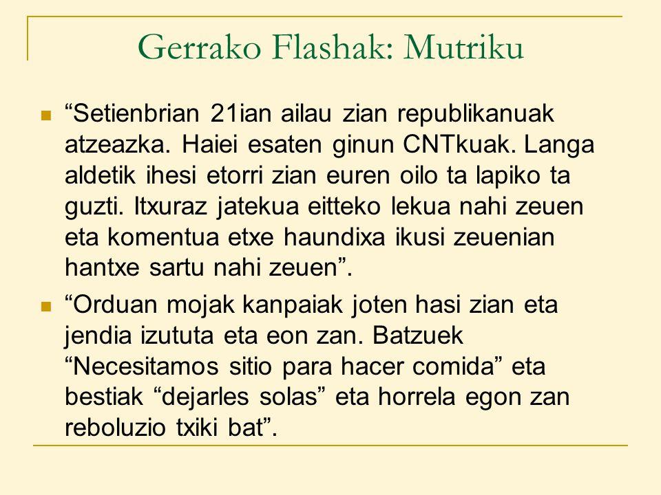 Gerrako Flashak: Mutriku Setienbrian 21ian ailau zian republikanuak atzeazka.