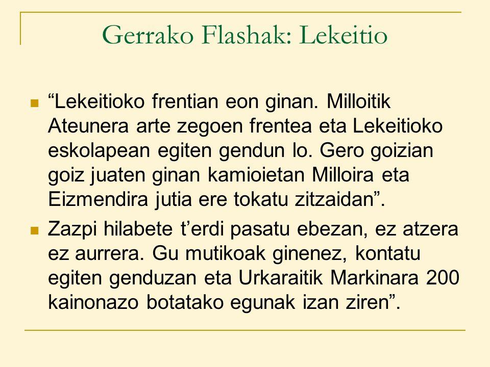Gerrako Flashak: Lekeitio Lekeitioko frentian eon ginan.