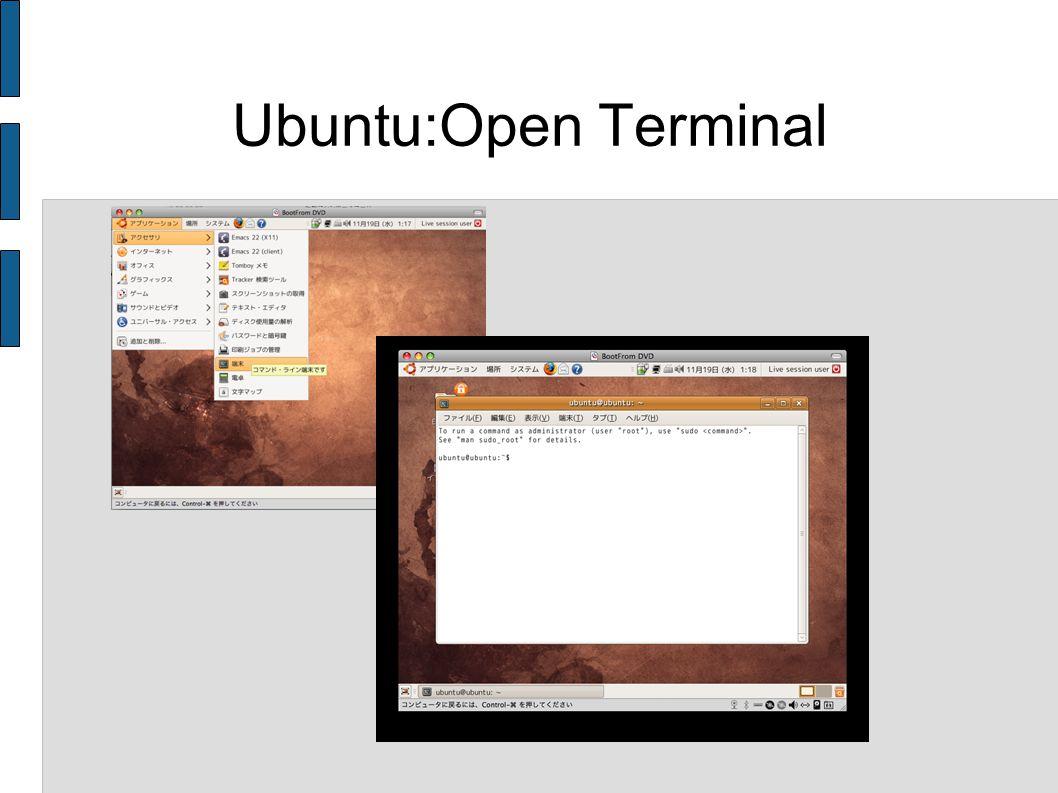 Ubuntu:Open Terminal