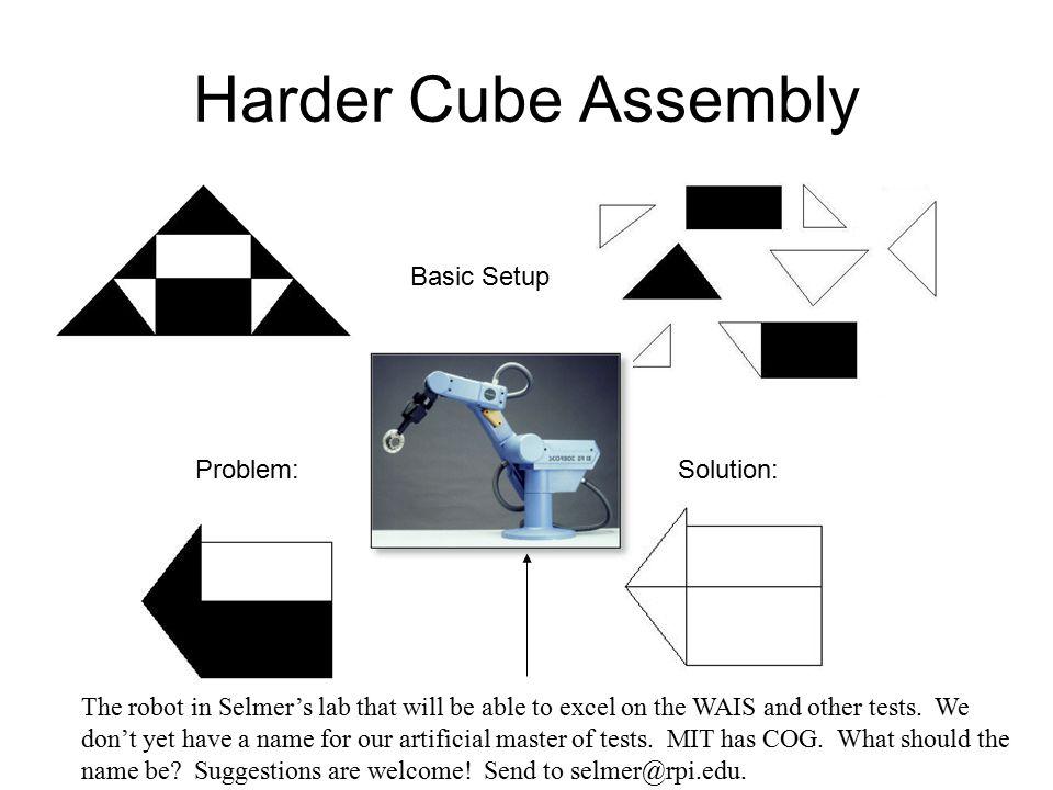Cube Assembly Basic Setup Problem:Solution: