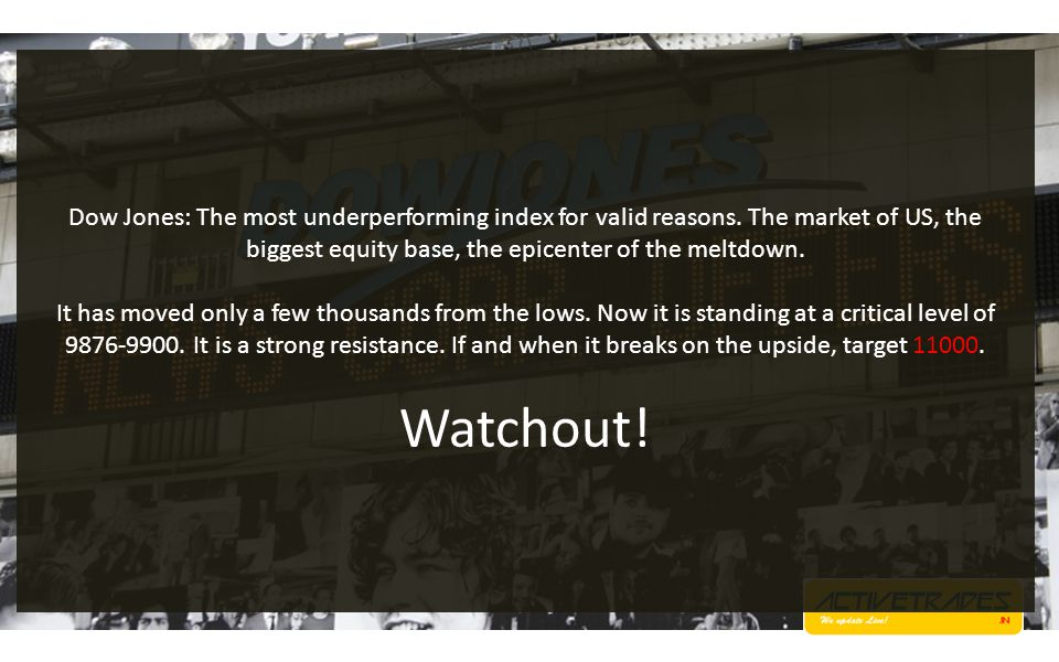 Dow Jones: The most underperforming index for valid reasons.