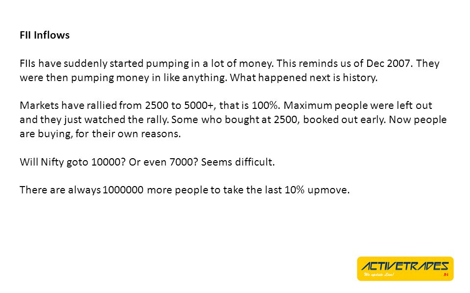 Summarizing Monsoon issues came and went by.