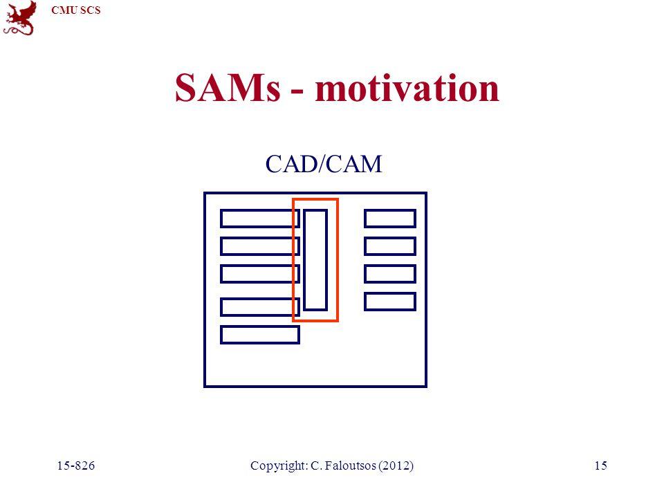 CMU SCS 15-826Copyright: C. Faloutsos (2012)15 SAMs - motivation CAD/CAM