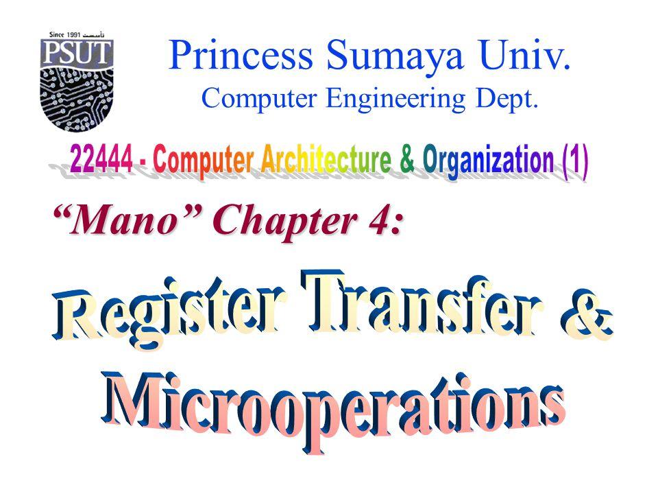 Princess Sumaya University 22444 – Computer Arch.& Org.