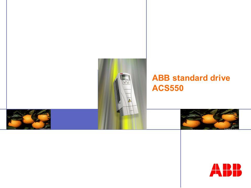 ABB standard drive ACS550