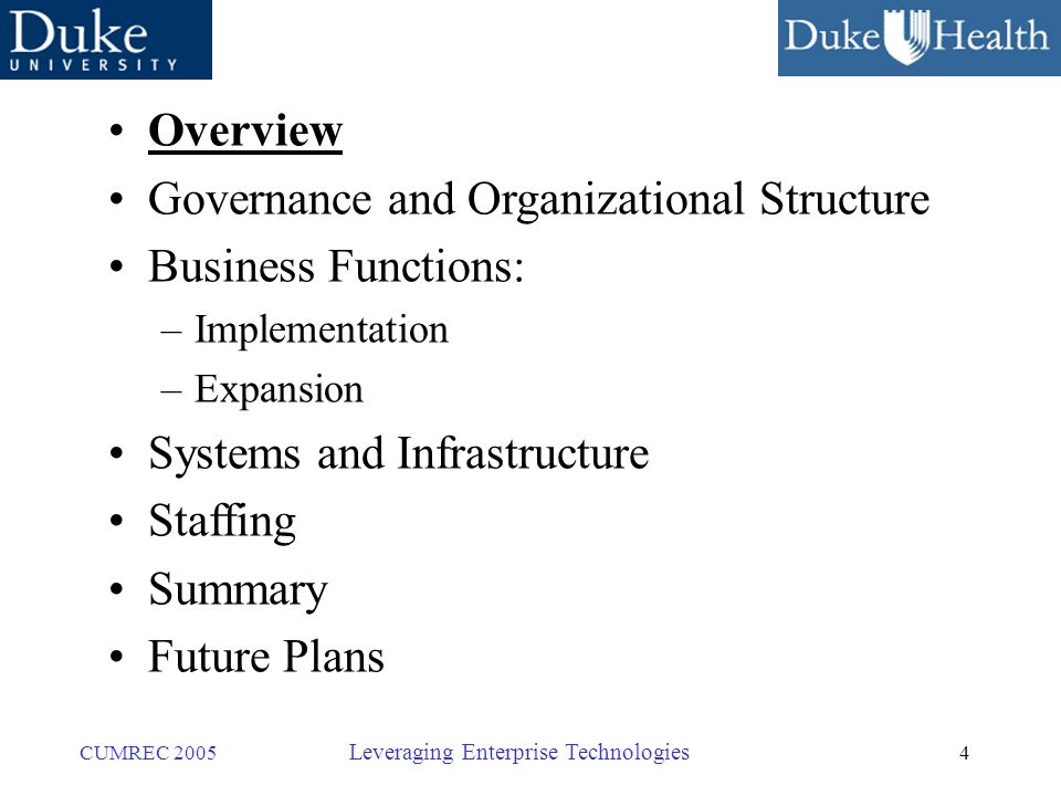 45 CUMREC 2005 Leveraging Enterprise Technologies MSS supported our vision for the business process Simple intuitive interface Secure access to people, positions, and applicants Update employee and position data Electronic routing and workflow Simple approval process Status tracking at each step of the process