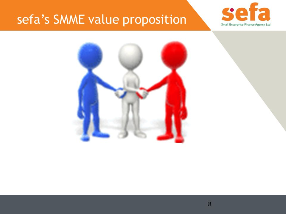 8 sefa's SMME value proposition