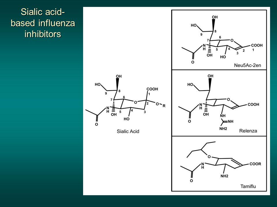 Sialic acid- based influenza inhibitors