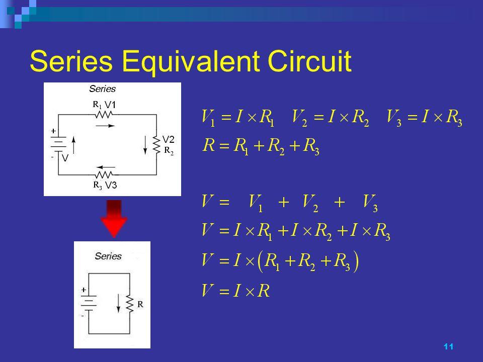 11 Series Equivalent Circuit